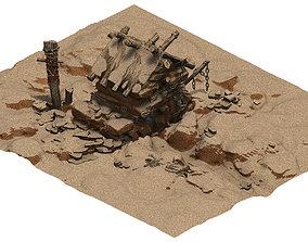 Desert - Monster Lair 002 brick 3D