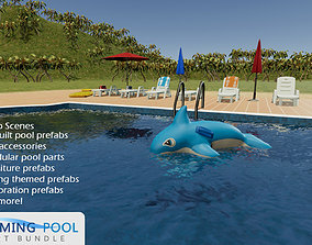 Swimming Pool Environment Pack 3D model game-ready