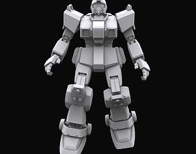 3D Gundam mobile suit MS RGM 79G GM model