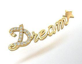 556 Dream Letter Pendant 3D print model
