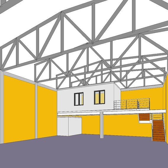 Process modeling of an industrial shed