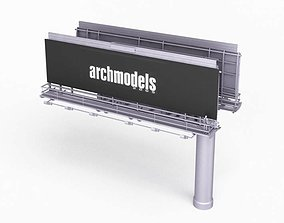 3D Billboard Advertisement Archmodels