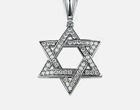 Star of David jewelry 3D print model