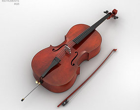 Cello 3D model viol