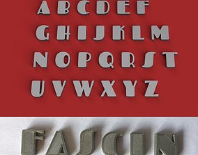 FASCINATE uppercase and lowercase 3D Letters STL FILE
