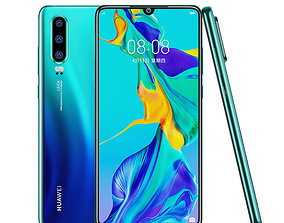 p30pro 3d model of huawei P30 mobile phone
