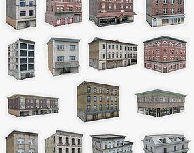 3D asset 15 Apartment Building Collection 1