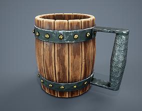 Medieval Beer Mug PBR Game Ready 3D model