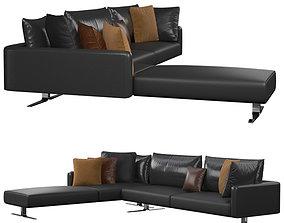 Corner leather sofa 3D