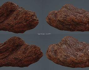 3D asset martian cliff rock