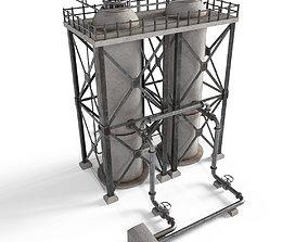 Industrial facility v3 3D model