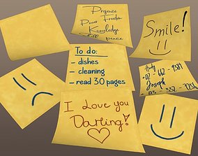 3D Postit Note Collection