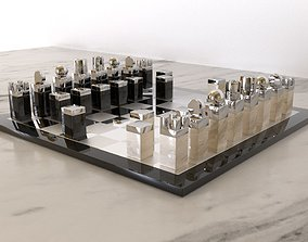 room Chess Set 3D model