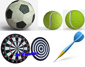 Sport equipments Collection - PBR Game-Ready 3D