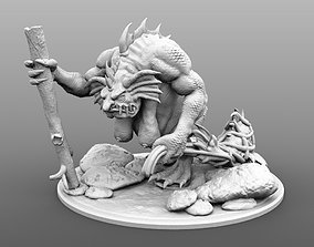 Warhammer River Troll 120mm Miniature 3D printable model