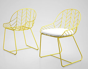 modern Bend Dining Chair by West Elm 3D