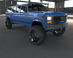 3D Ford Bronco 1986 6 doors