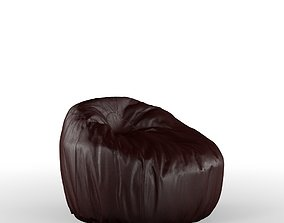Leather puff leather 3D model