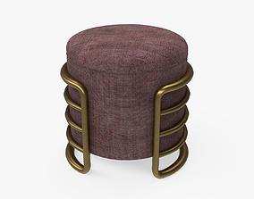 EERO stool brown upholstered 3D asset