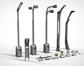 sci fi lighting 3 3D model