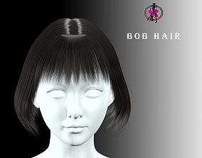 Business Hairstyles - Bob Hair 3D asset low-poly