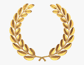 3D model Gold laurel wreath