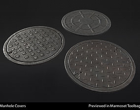 3D model Manhole Covers - In-Game Ready