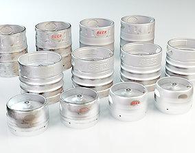 3D model Beer Barrel 7L 15L 20L aluminum