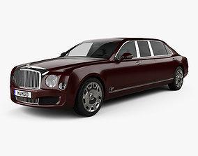 3D Bentley Mulsanne Grand Limousine Mulliner 2017