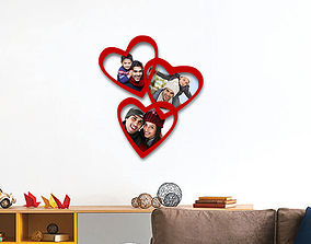 3D print model Family hearts photo frame