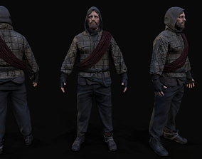 Survivor character 3d model game-ready