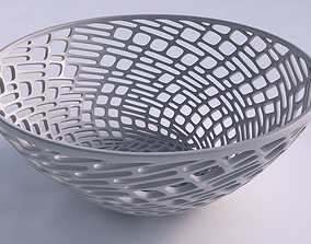 3D printable model Bowl wide with lattice tiles