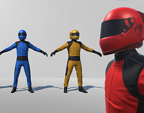 Formula One Driver Model Rigged 3D asset