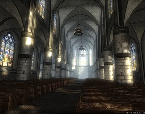 Gothic Church INTERIOR and EXTERIOR 3D asset