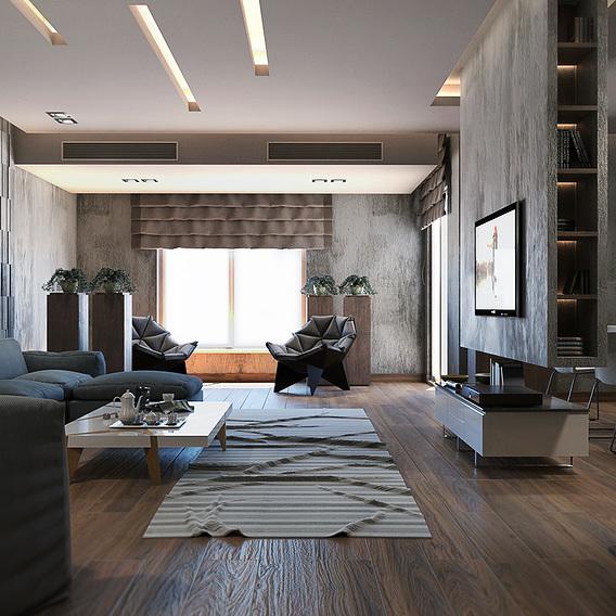 Modern naturalistic apartment