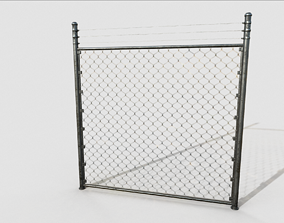 Chain Link Fence 3D model realtime