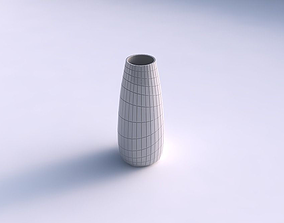 3D printable model Vase Bullet with distorted grid plates