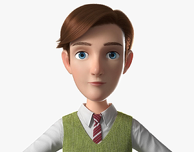Cartoon Man NoRig 3D model