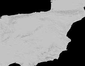 Spain Height maps 3D