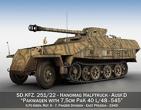 3D SDKFZ 251 - Ausf D - Pakwagen - 545