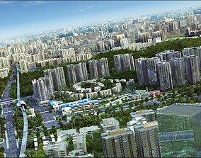 3D model animated VR / AR ready cityscape