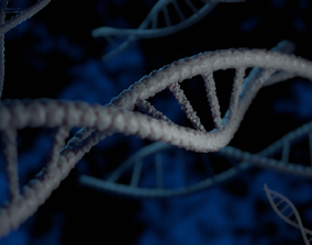 3D Stylized DNA Double Helix
