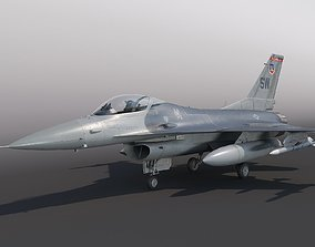 General Dynamics F-16 Fighting Falcon rigged 3D