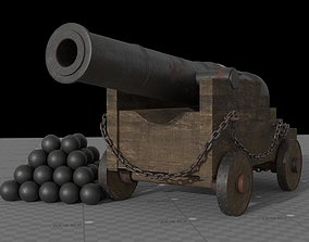 Historical Pirate Cannon 3D model