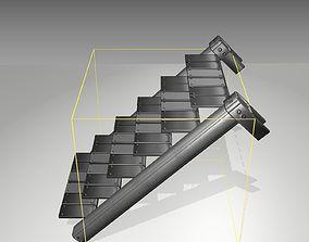 3D model Futuristic Stairs - 14 - Basic