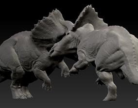 Triceratops battle 3D