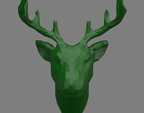 3D printable model 3D asset deer head