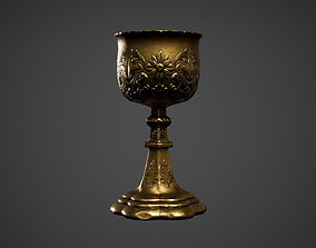 3D asset Medieval Chalice Cup Low Poly Game Ready