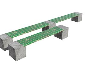 3D Green bench