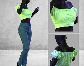 Women Casual and Jean - Marvelous Designer and Clo3D
